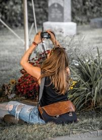 Joon visiting the Shannon Hoon & Tim Forkeotes Vigil & Vigilstock 2015 in Lafayette, Indiana